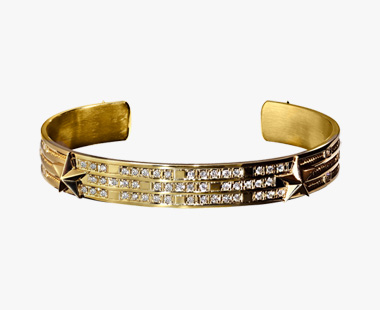 DIAMOND STAR STUDS BANGLE, , medium
