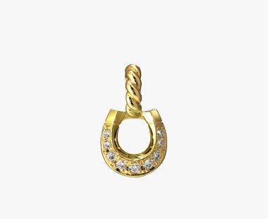 DIAMOND HORSESHOE CHARM, , medium
