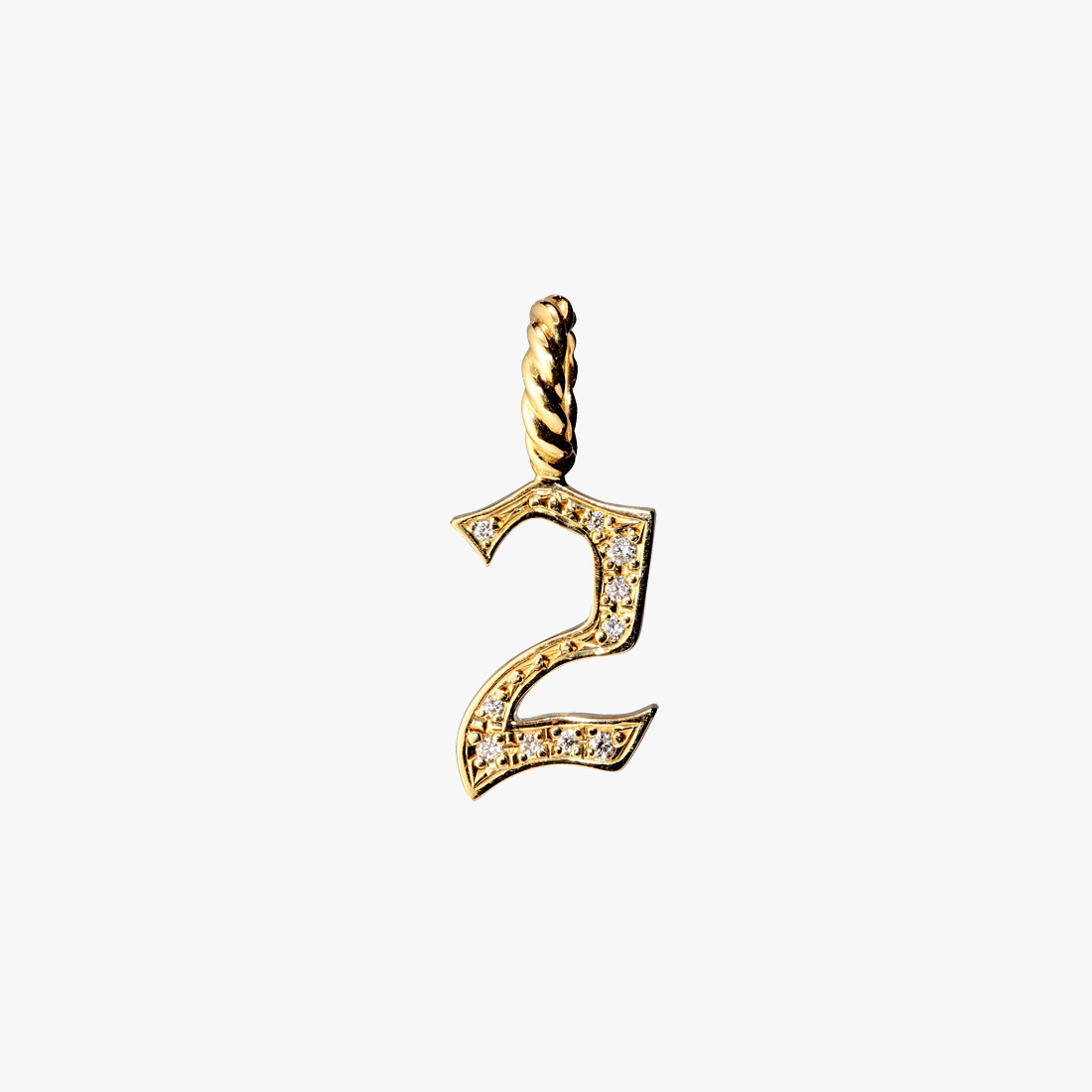 DIAMOND NUMBER CHARM(2), , large