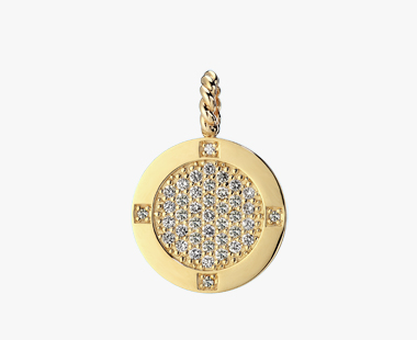 DIAMOND PAVE ROUND CHARM, , medium