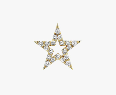 【SJX W】DIAMOND STAR PIERCED EARRING(M), , medium