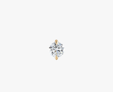【SJX W】LAB-GROWN DIAMOND (SYNTHETIC DIAMOND) SEMI NUDE PIERCED EARRING 0.20ct, , medium
