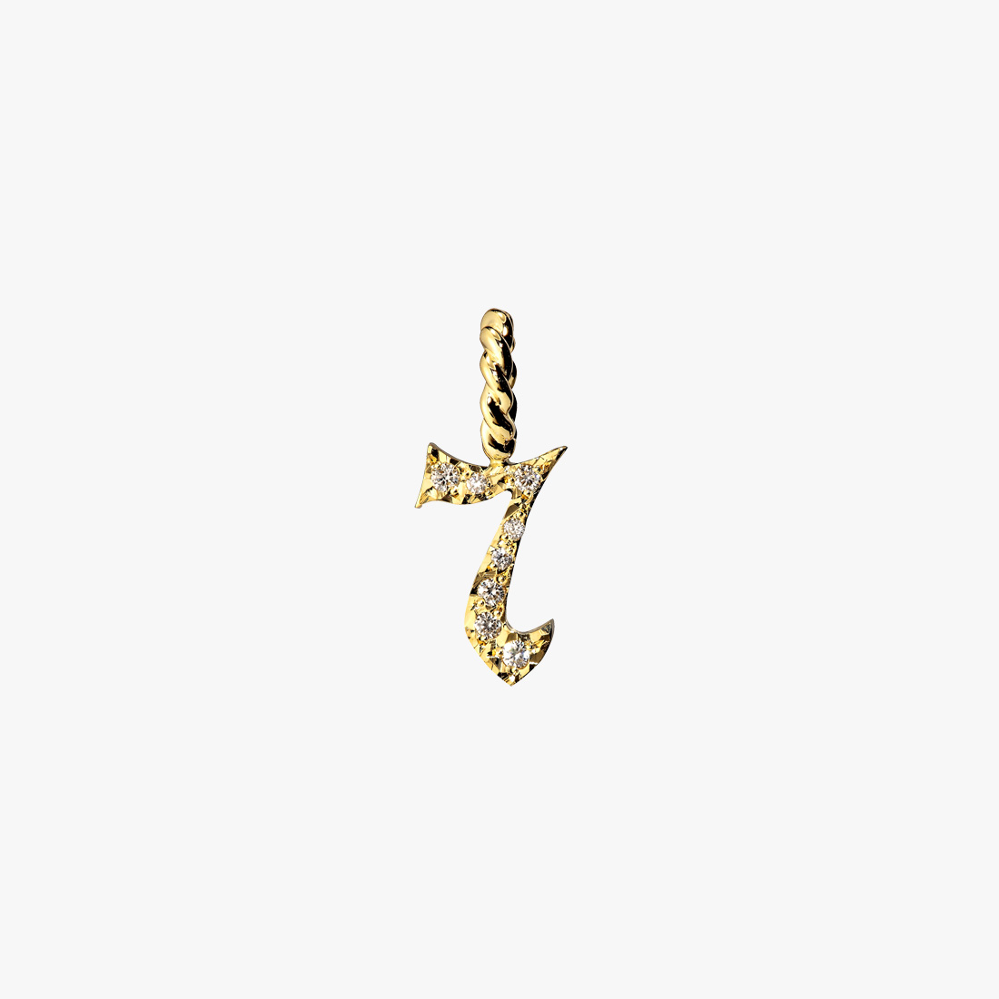 DIAMOND MINI NUMBER CHARM(7), , large