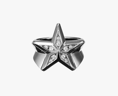 DIAMOND STAR RING, , medium