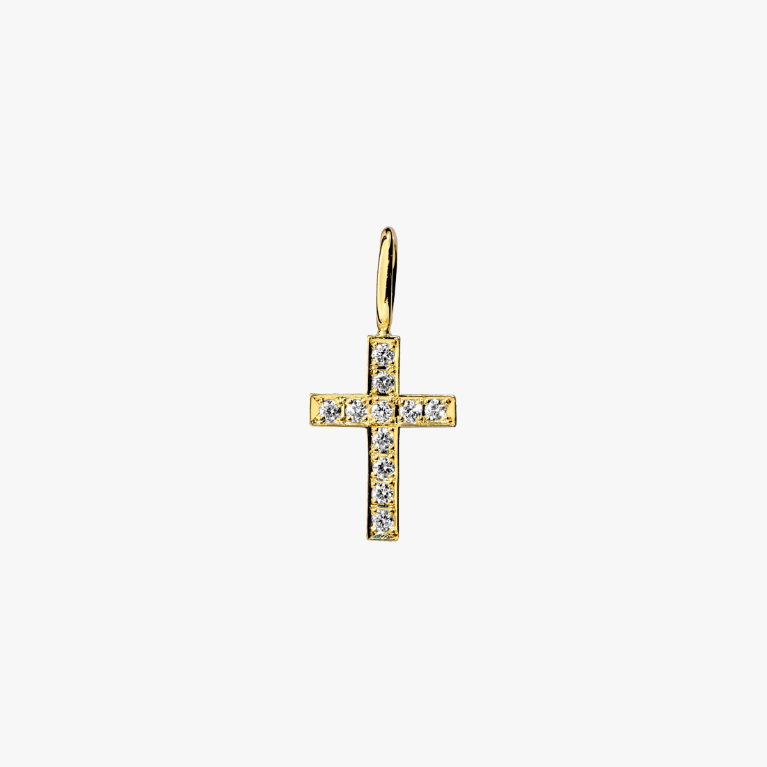 DIAMOND CROSS CHARM, , large