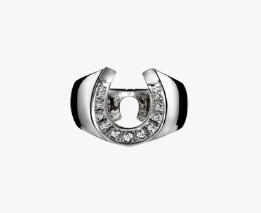 DIAMOND HORSESHOE RING, , medium