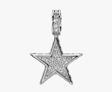 DIAMOND STAR CHARM, , medium