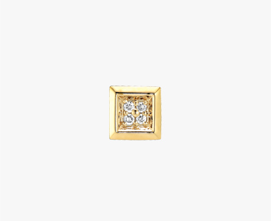 【SJX W】DIAMOND SQUARE PIERCED EARRING, , medium