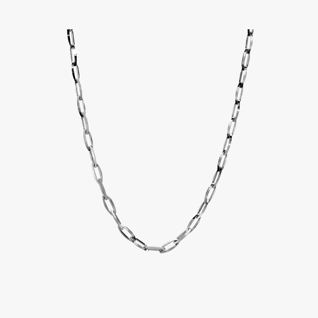 WHITE GOLD CHAIN 50cm, , large