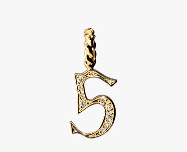 DIAMOND NUMBER CHARM(5), , medium