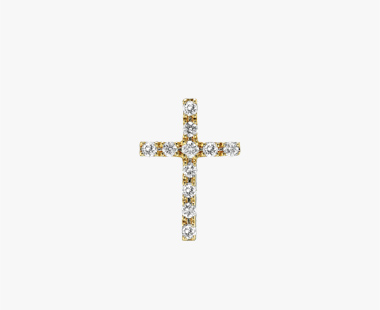 【SJX W】DIAMOND CROSS PIERCED EARRING(S), , medium