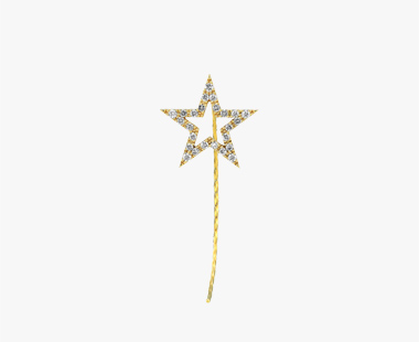 【SJX W】DIAMOND STAR PIERCED EARRING(L), , medium