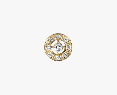 【SJX W】DIAMOND ROUND PIERCED EARRING, , medium