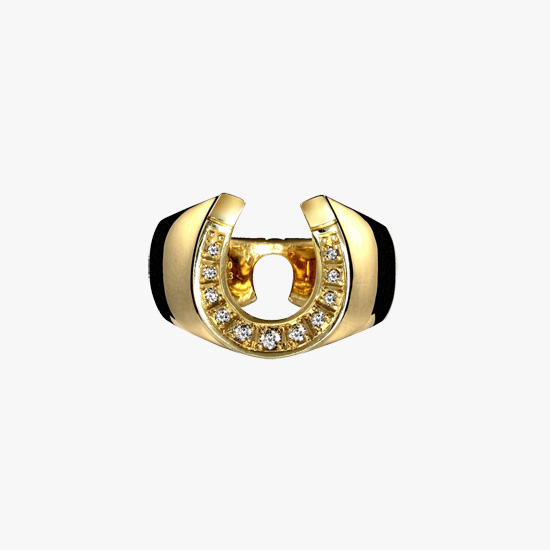 DIAMOND HORSESHOE RING, , small