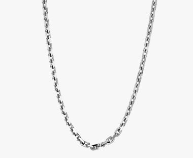 WHITE GOLD CHAIN 50cm, , medium