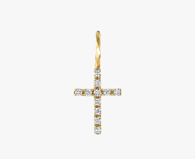 【SJX W】DIAMOND CROSS CHARM(S), , medium