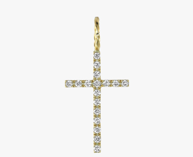 【SJX W】DIAMOND CROSS CHARM(L), , medium
