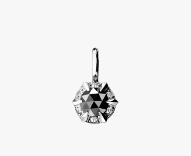 ROSE CUT BLACK DIAMOND CHARM, , medium