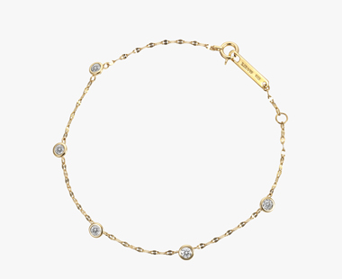 【SJX W】LAB-GROWN DIAMOND (SYNTHETIC DIAMOND) CHAIN BRACELET, , medium
