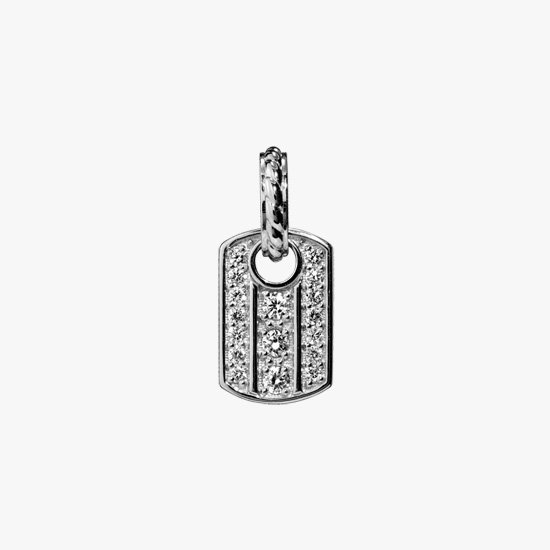DIAMOND TAG CHARM (S), , small