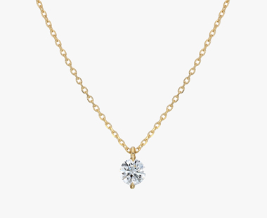 【SJX W】LAB-GROWN DIAMOND (SYNTHETIC DIAMOND) SEMI NUDE NECKLACE 0.10ct, , medium