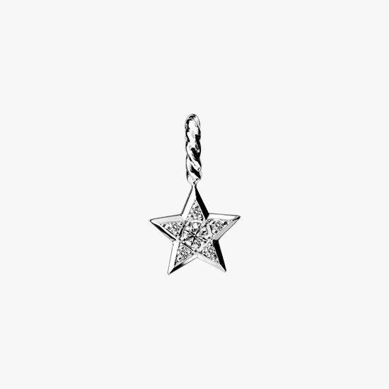 DIAMOND STAR CHARM, , small