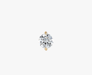 【SJX W】LAB-GROWN DIAMOND (SYNTHETIC DIAMOND) SEMI NUDE PIERCED EARRING 0.30ct, , medium