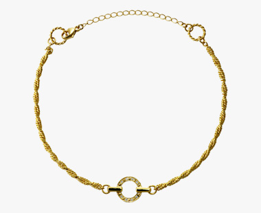 DIAMOND CIRCLE ANKLET, , medium
