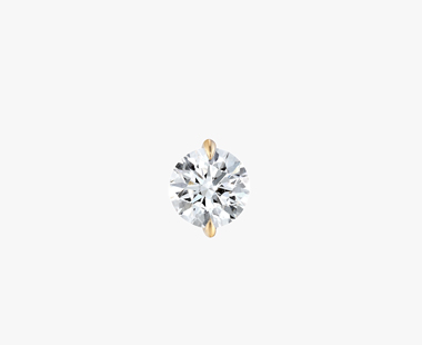 【SJX W】LAB-GROWN DIAMOND (SYNTHETIC DIAMOND) SEMI NUDE PIERCED EARRING 0.50ct, , medium