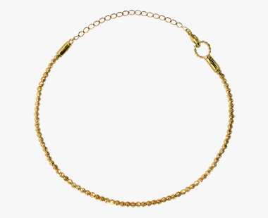GOLD GLITTER ANKLET, , medium