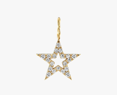 【SJX W】DIAMOND STAR CHARM(M), , medium