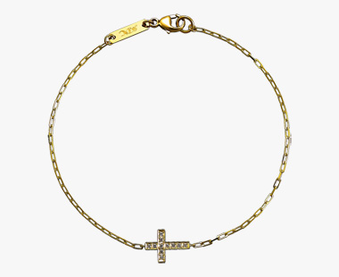 DIAMOND CROSS BRACELET, , medium