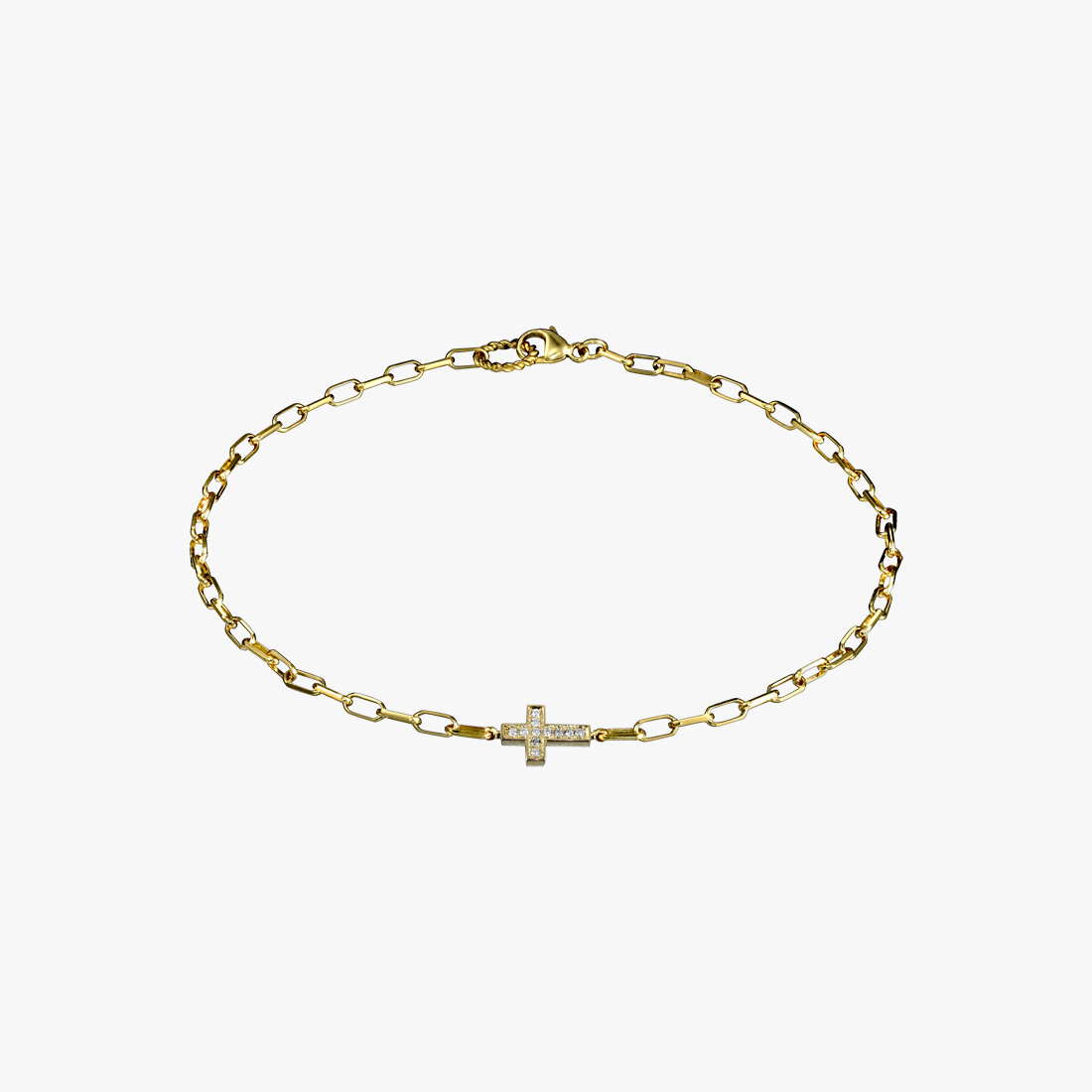 DIAMOND CROSS ANKLET, , large