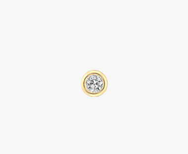 【SJX W】LAB-GROWN DIAMOND (SYNTHETIC DIAMOND) STUD PIERCED EARRING 0.10ct, , medium