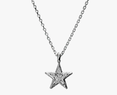 DIAMOND STAR NECKLACE, , medium